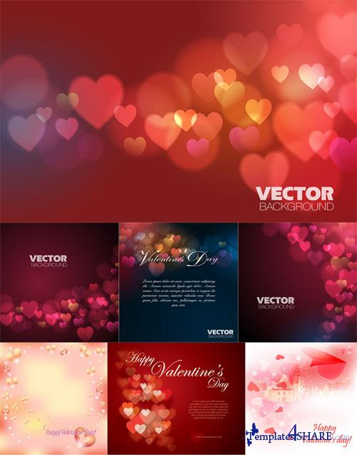 Valentine Vector Backgrounds