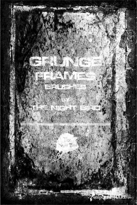 Grunge Frames Photoshop Brushes