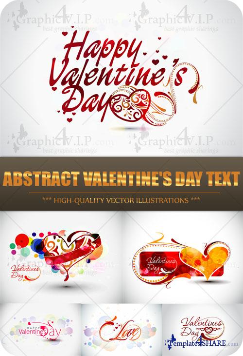 Abstract Valentine's Day Text - Stock Vectors