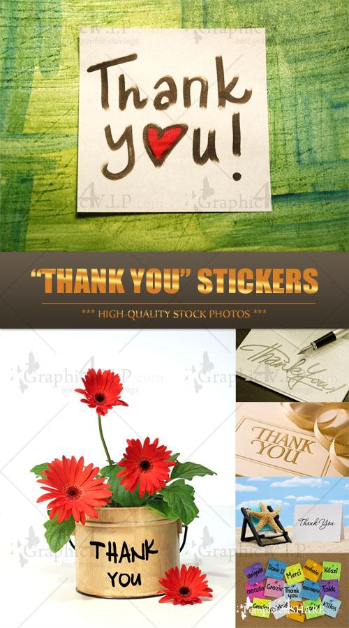 """Thank You"" Stickers - Stock Photos"