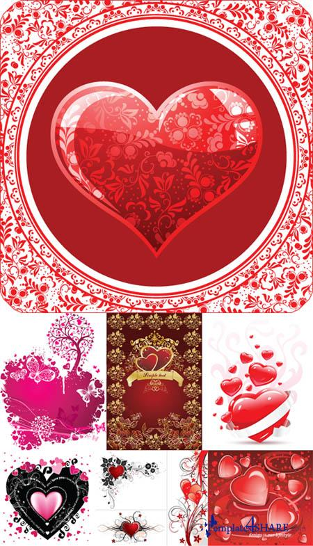 Valentine Day Hearts Vector MegaCollection 4