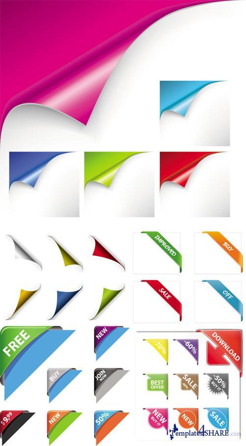 Corners Vector Design Elements 187 Templates4share Com