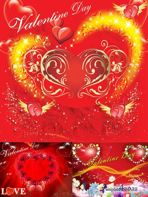 Valentines Day PSD Templates