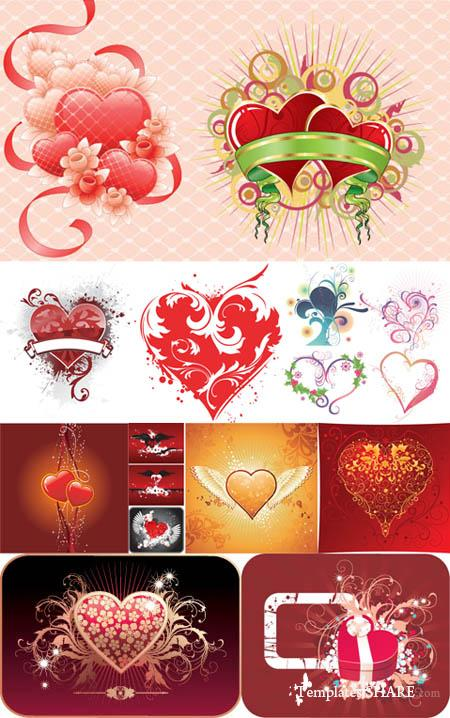 Valentine Day Hearts Vector MegaCollection 6