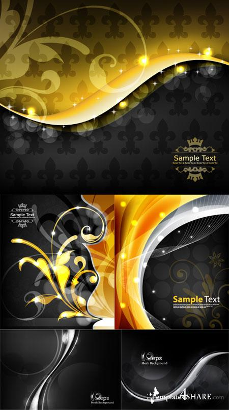 Black Vector Backgrounds Pack