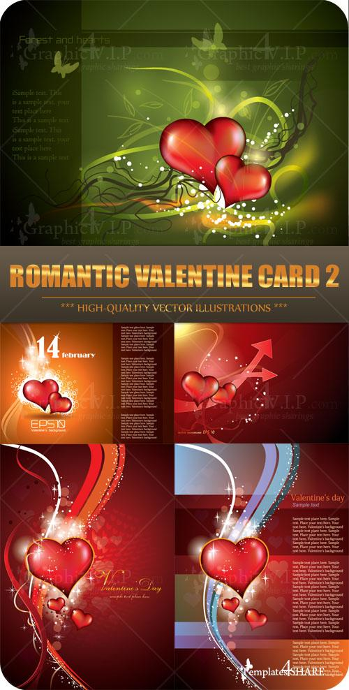 Romantic Valentine Card 2 - Stock Vectors