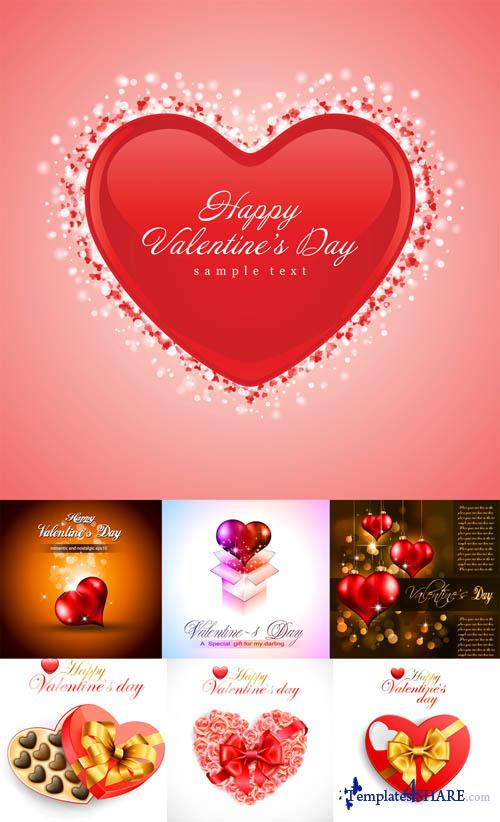 Valentine Day Hearts Vector MegaCollection 7
