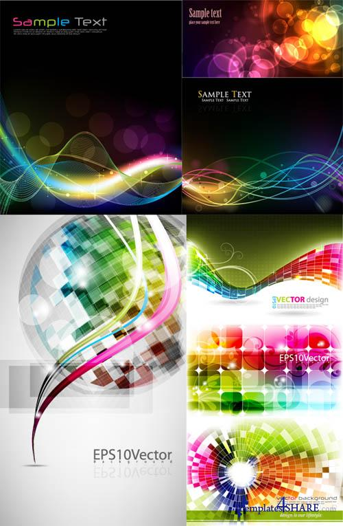 Colorful Abstract Vector Backgrounds 43