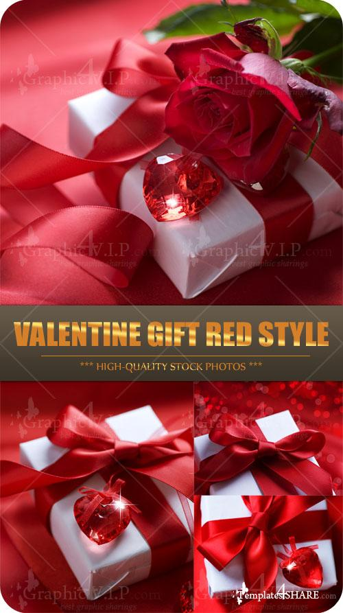 Valentine Gift Red Style - Stock Photos