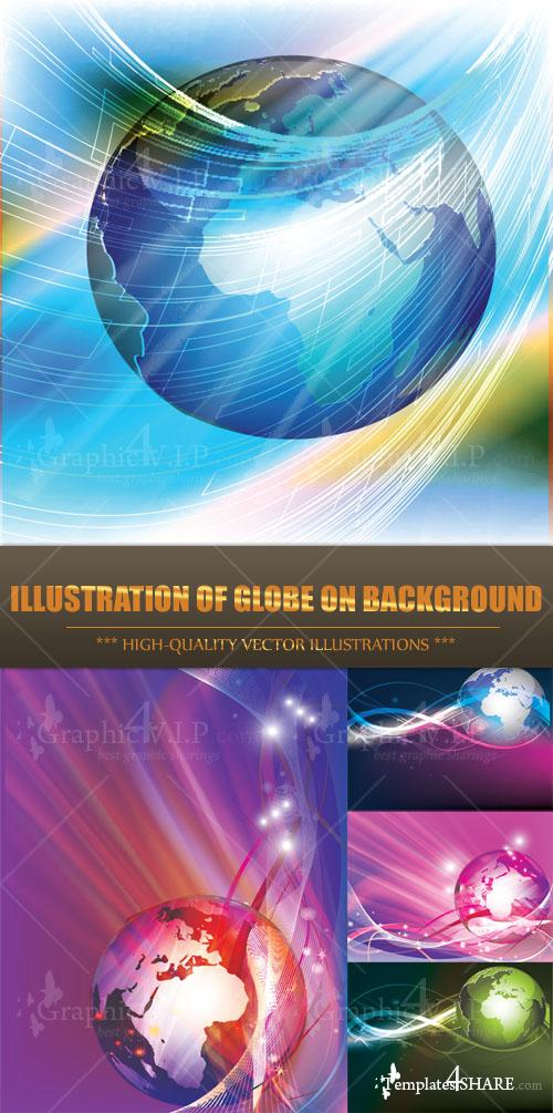 Illustration of Globe on Background - Stock Vectors