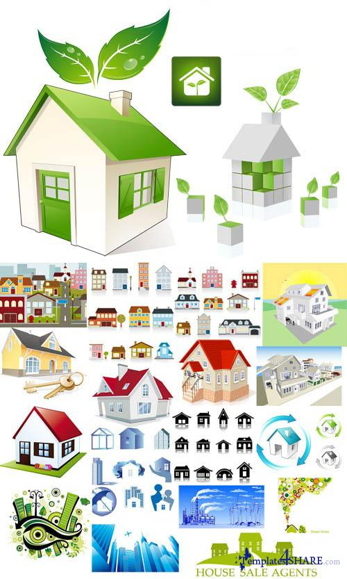 Houses Vector Collection
