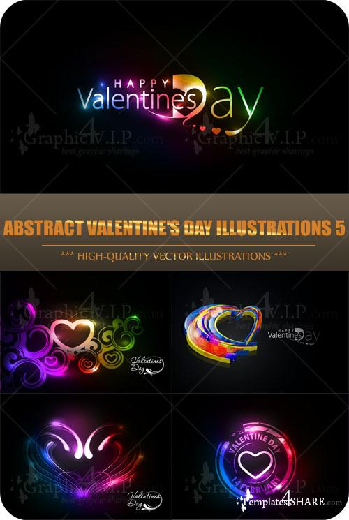 Abstract Valentine's Day Illustrations 5 - Stock Vectors