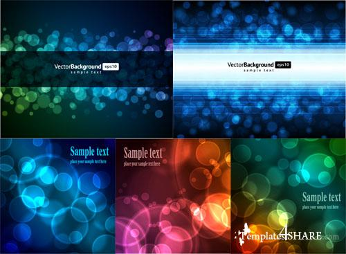 Colorful Abstract Vector Backgrounds 45