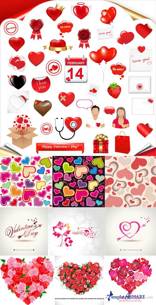 Valentine Day Hearts Vector MegaCollection 8