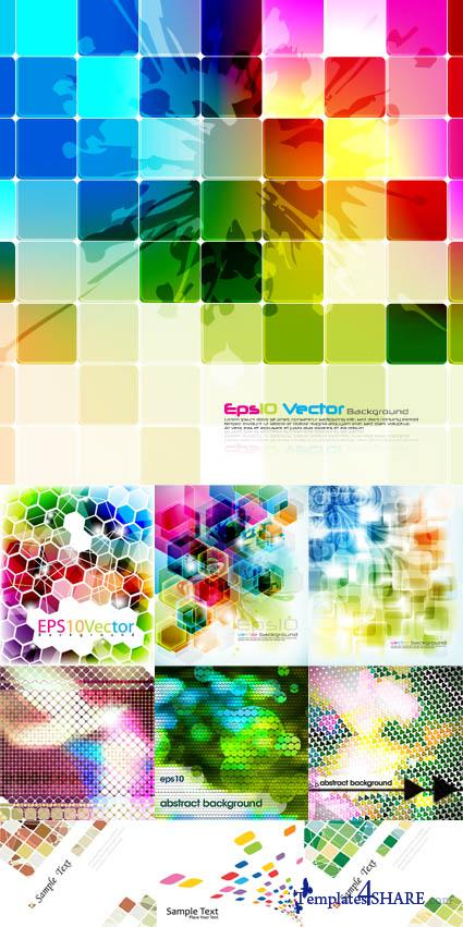 Mosaic Vector Backgrounds Collection