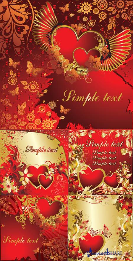 Valentine Vector Backgrounds 2