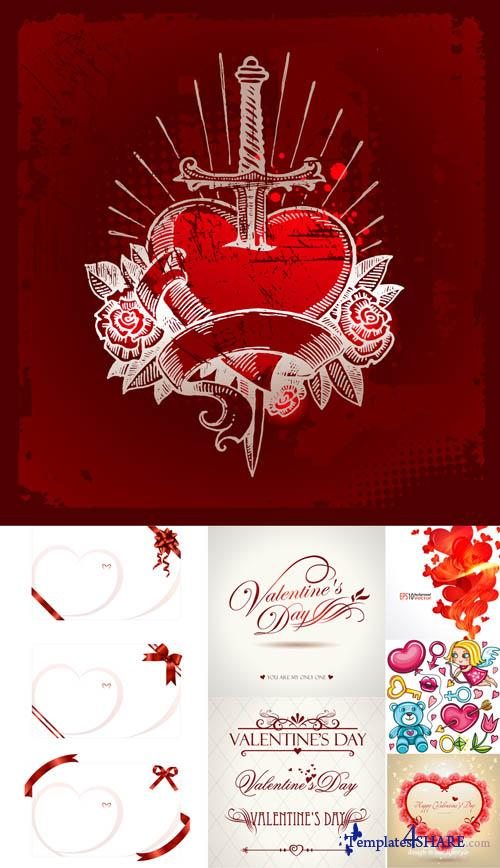 Valentine Day Hearts Vector MegaCollection 10