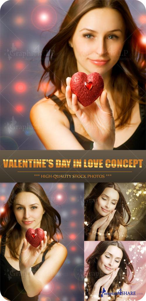 Valentine's Day in Love Concept - Stock Photos