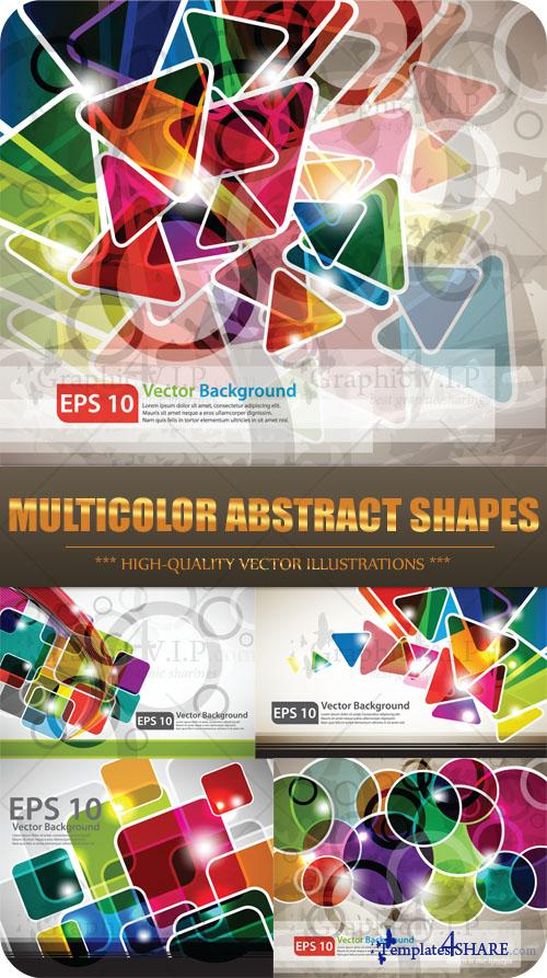 Multicolor Abstract Shapes - Stock Vectors