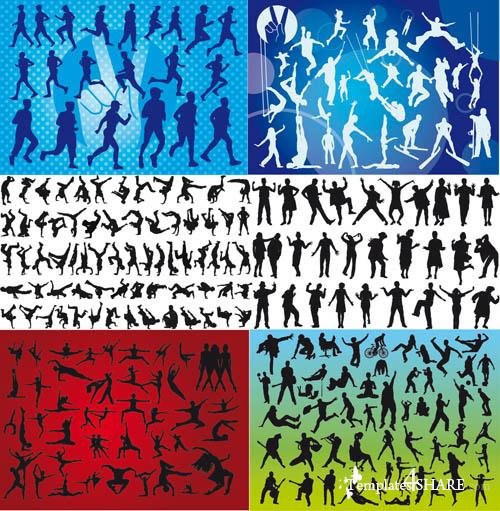 Action Movement Vector Silhouettes
