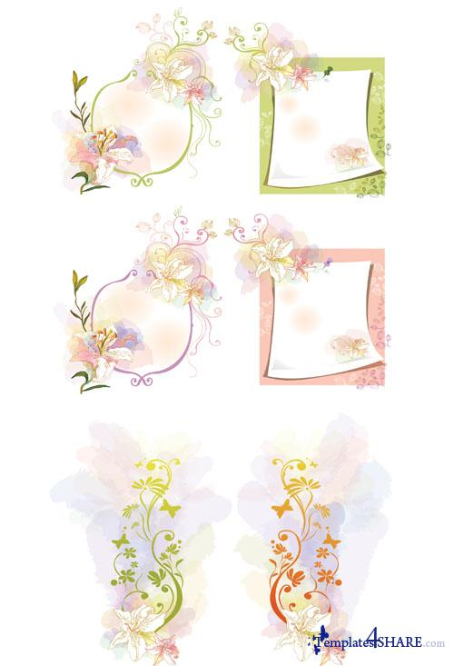 Lilies Flowers Vector