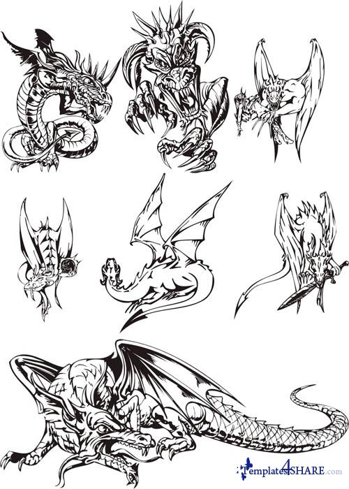 Dragons Vector Collection