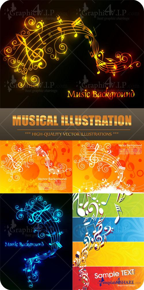 Musical Illustration - Stock Vectors