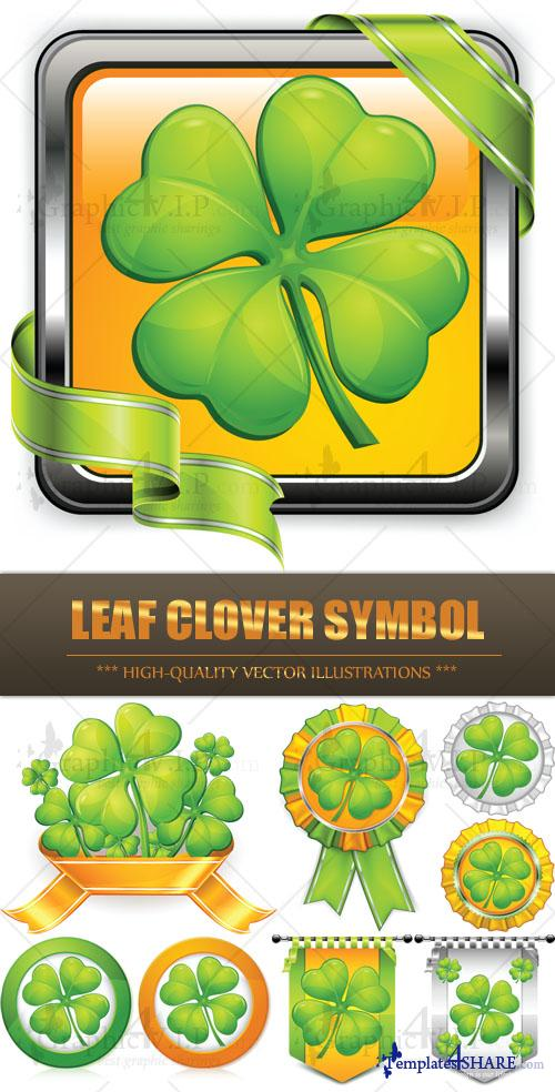 Leaf Clover Symbol - Stock Vectors