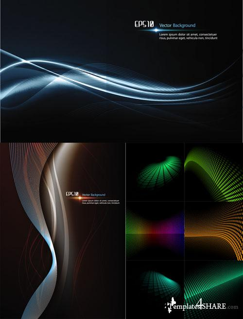 Abstract Dark Vector Backgrounds