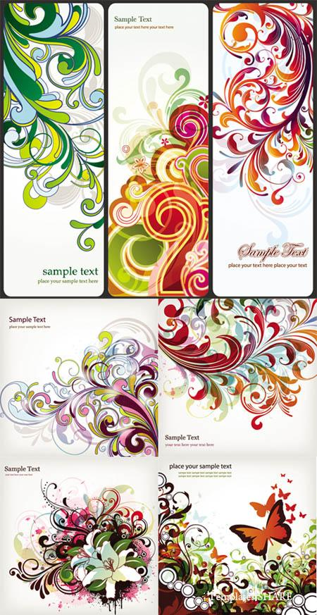 Stylish Floral Vector Design