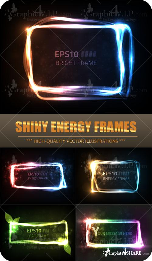 Shiny Energy Frame - Stock Vectors