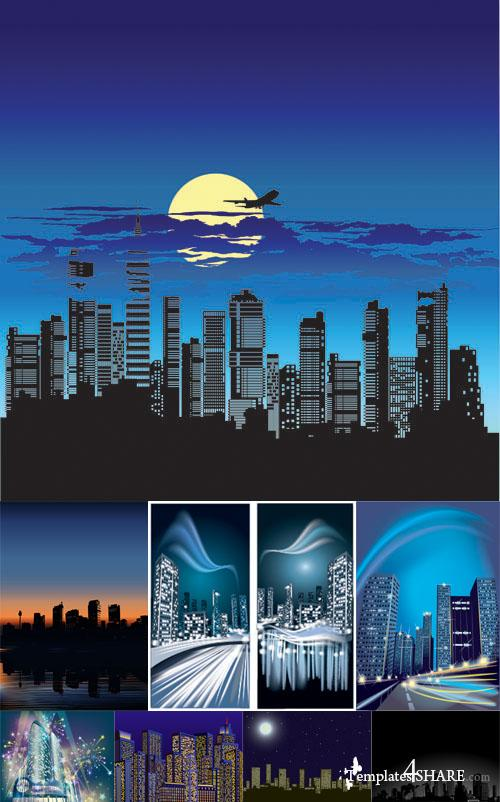 Night City Vector Clipart