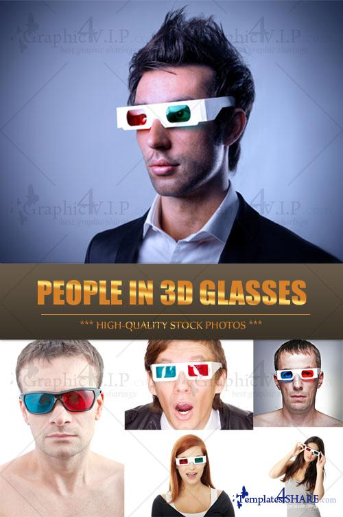 People in 3D Glasses - Stock Photos