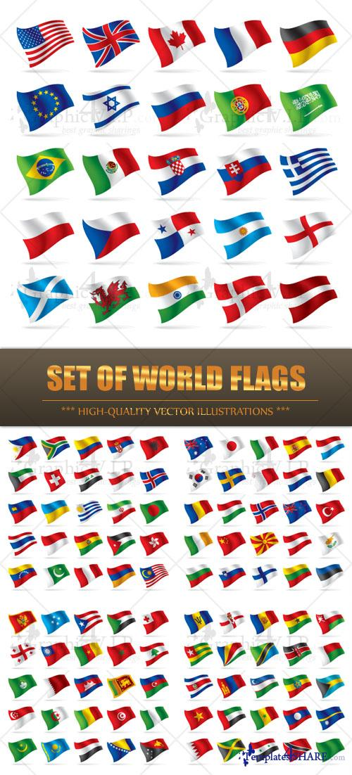 Set of World Flags - Stock Vectors