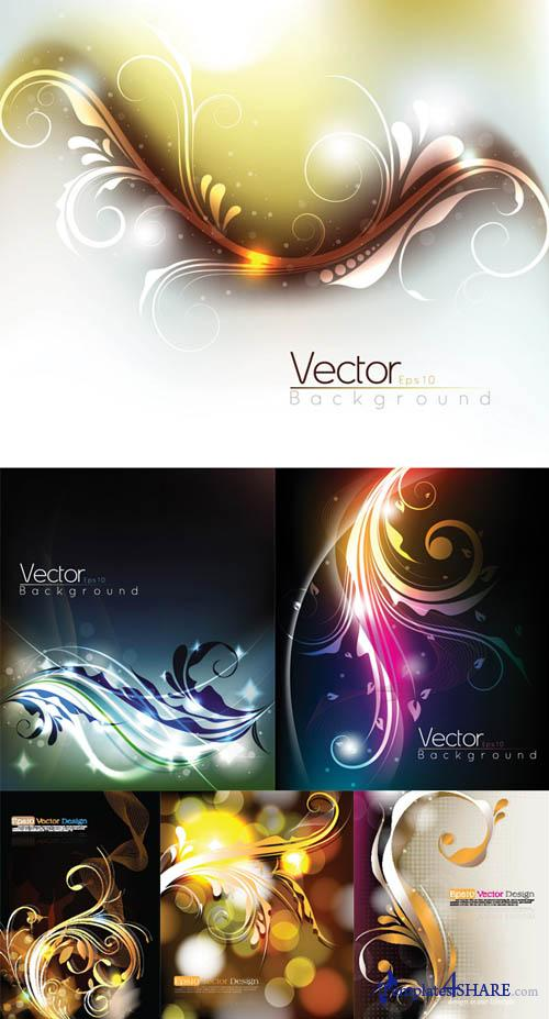 Glowing Flower Design Vectors