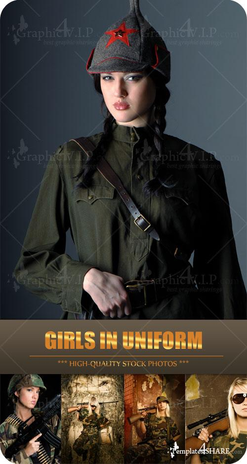Girls in Uniform - Stock Photos