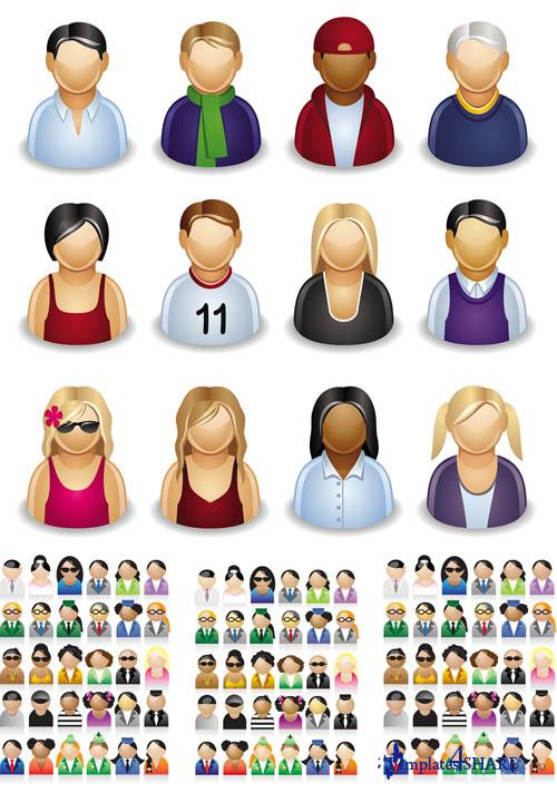 People Icons Vector Pack