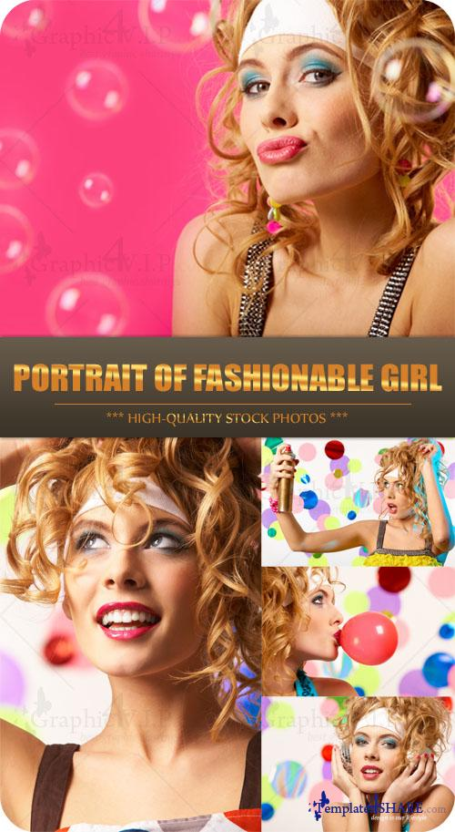 Portrait of Fashionable Girl - Stock Photos