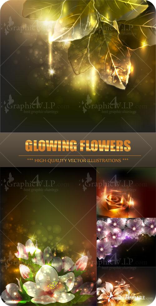 Glowing Flowers - Stock Vectors