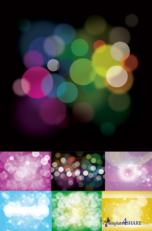 Bokeh Backgrounds Vector Pack