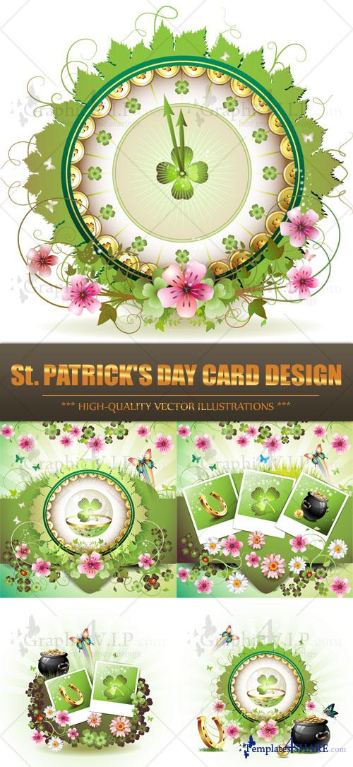 St. Patrick's Day Card Design - Stock Vectors