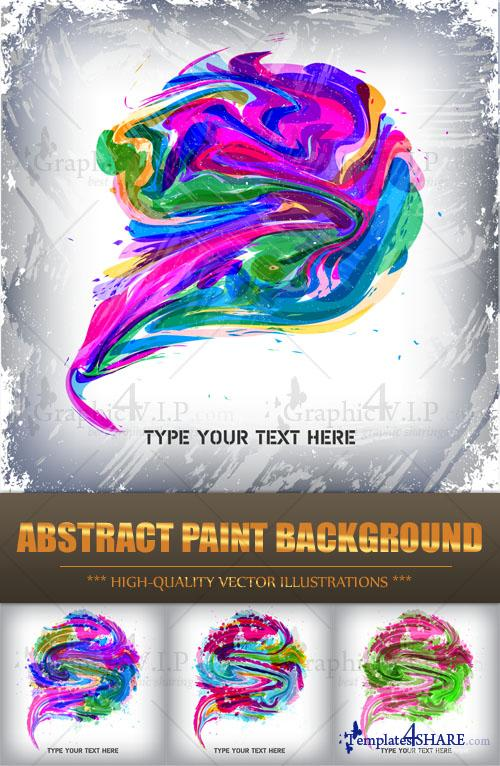Abstract Paint Background - Stock Vectors