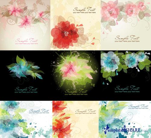 Abstract Flower Vector Pack