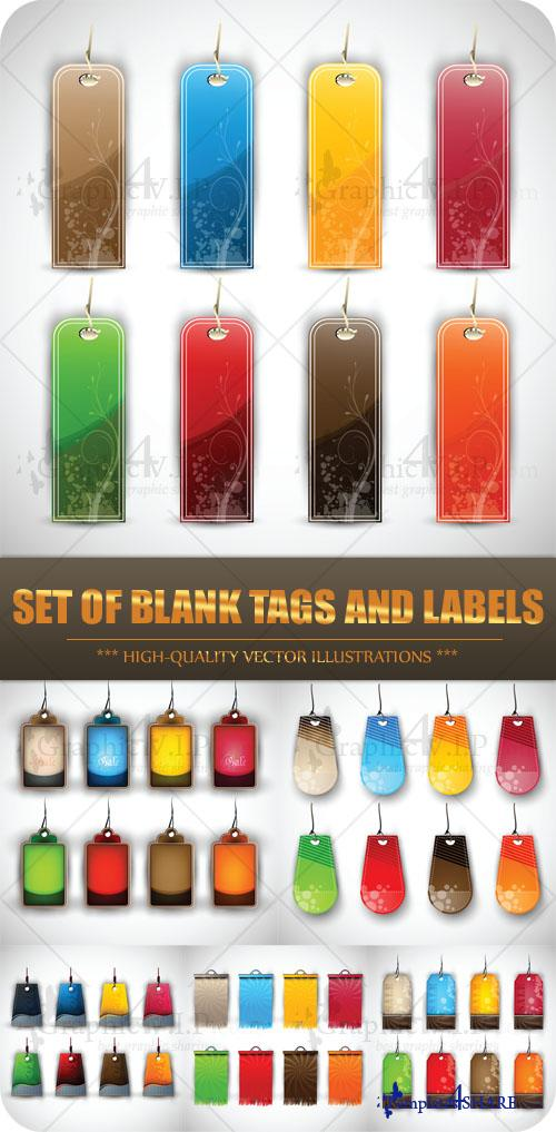 Set of Blank Tags and Labels - Stock Vectors