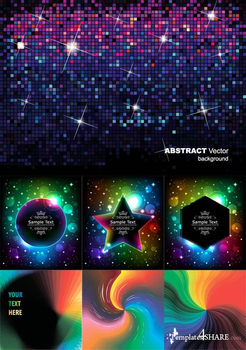 Colorful Abstract Vector Backgrounds 48