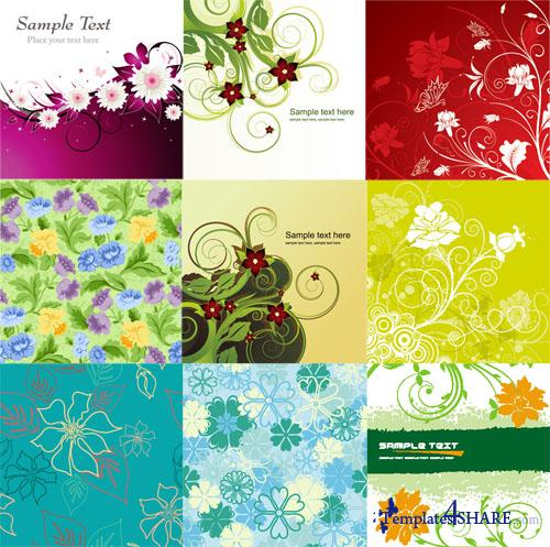 Flower Backgrounds Pack