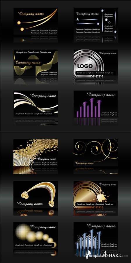 Stylish Vector Business Cards