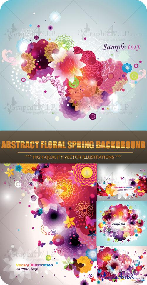 Abstract Floral Spring Background - Stock Vectors
