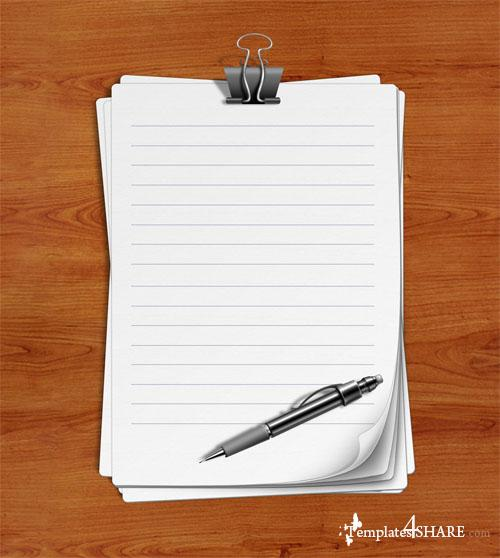 Lined Paper - PSD Template