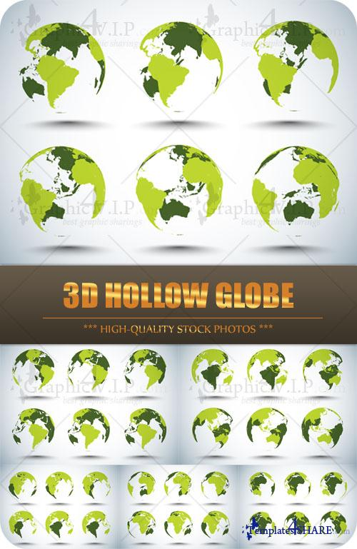 3D Hollow Globe - Stock Photos